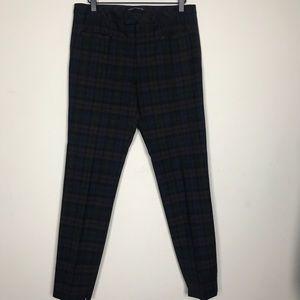 Zara Woman- Plaid Straight Leg Pants Size Large